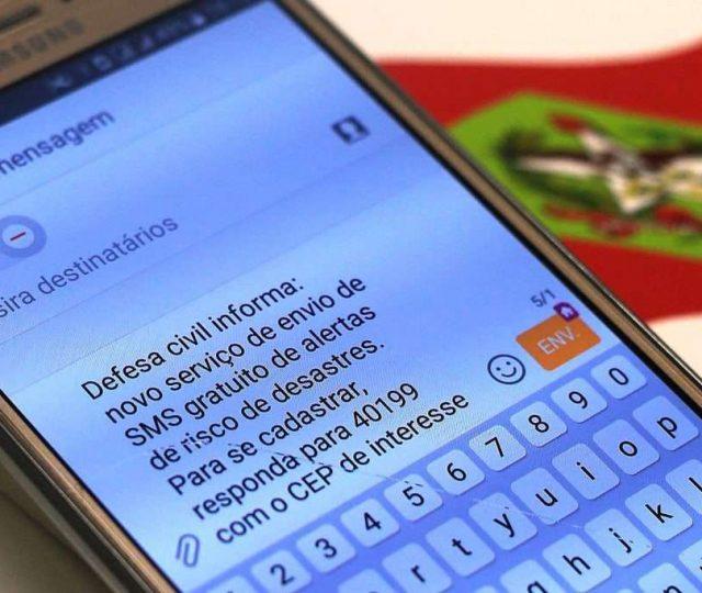 Alerta de desastres naturais por SMS já está disponível em todo país