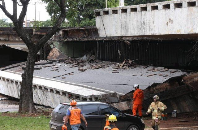 Viaduto que desabou em Brasília foi reaberto no carnaval