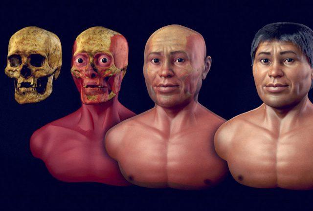 Rosto de homem de 2 mil anos que habitava o Brasil é reconstruído