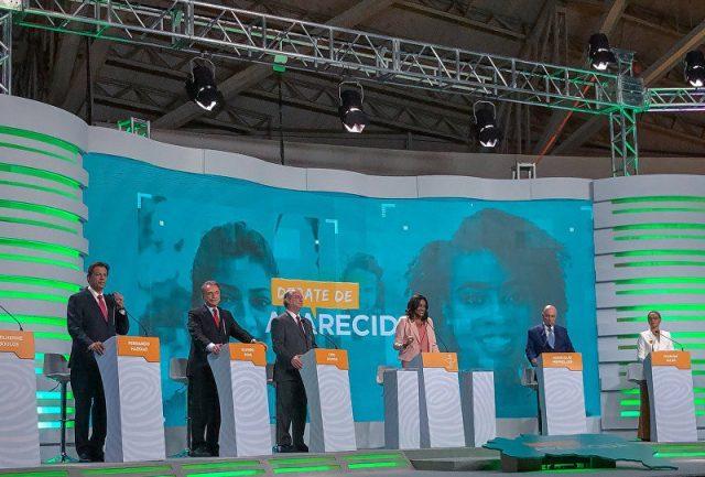 Ataques ao PT e Bolsonaro marcam o debate dos presidenciáveis no SBT