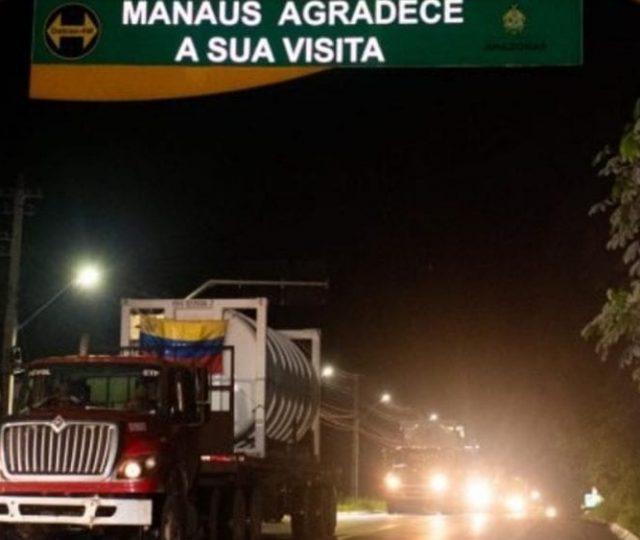 Caminhões com oxigênio da Venezuela chegam a Manaus